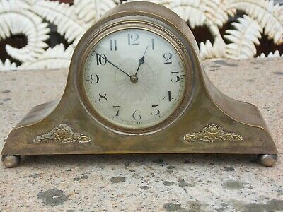 Antique or Vintage Silver Plate Clock with Good French Movement