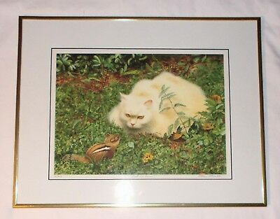"""Shall We Dance?"" Pencil Signed Framed Cat Print Drew Strouble"
