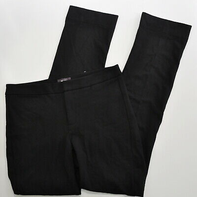 Not Your Daughters Jeans Size 8 Slim Trouser Pants In Ponte Knit Black NYDJ