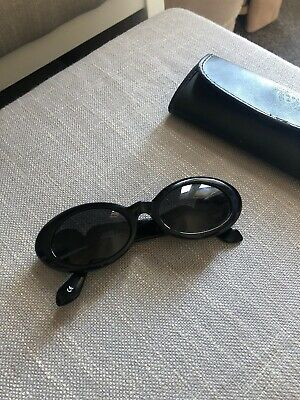 GIANNI VERSACE vintage black sunglasses gold medusa head 2 Medusa Heads Mod:527