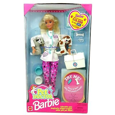 1996 Pet Doctor Barbie Doll with Pets