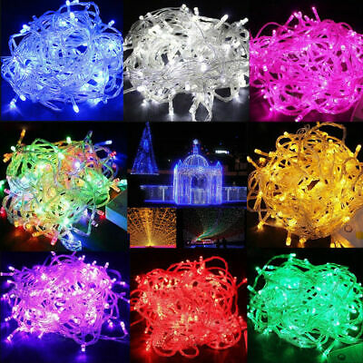 100 LED 10ft Christmas Tree Fairy String Party Lights Xmax Waterproof Color Lamp