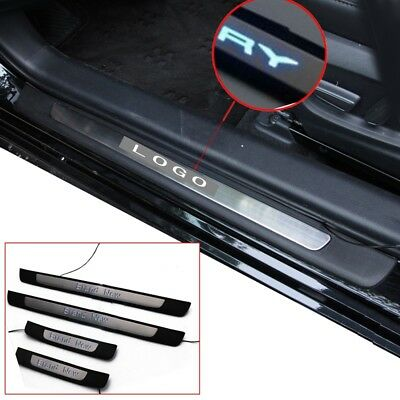 For 2018-2020 Toyota Camry 4PCS Blue Illuminated LED Door Sill Scuff Plate Guard