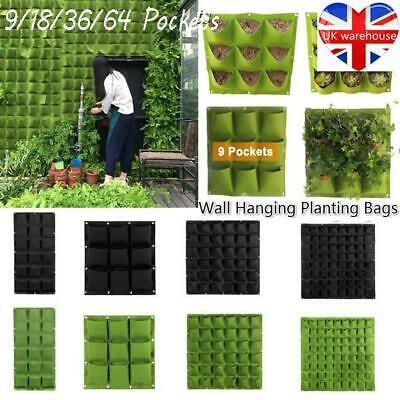 Wall Hanging Planting Bags Garden Vertical Planter  Pocket Flower Growing Pots