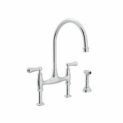 Rohl U.4719L-2 Perrin & Rowe 1.8 GPM Bridge Kitchen Faucet - - Chrome