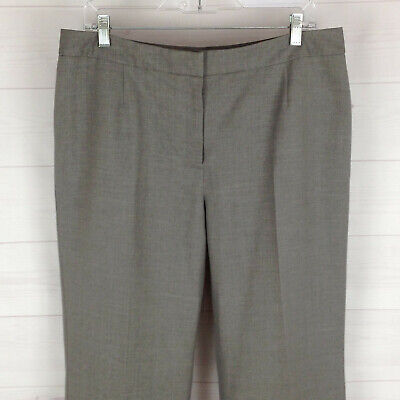 KASPER separates womens size 13/14 x 32 gray high rise straight lined dress pant