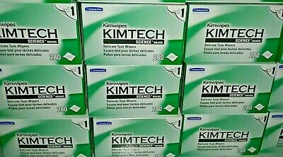 Kimtech Science KimWipes Delicate Task Wipers - 2 Boxes Of 280 Wipes/Box Ea. NEW