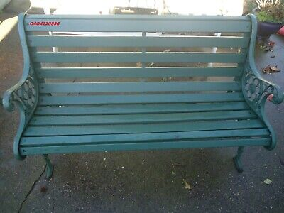 Cast Iron And Timber Garden Bench