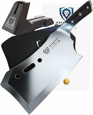 """Gladiator Series Obliterator Meat Cleaver - 9"""" - with Stand and Sheath"""