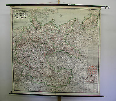 Beautiful Kontorwandkarte Greater Germany 1938 175x173 Vintage Map