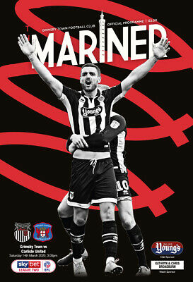 Grimsby Town vs. Carlisle United - Matchday Programme - 14/03/20