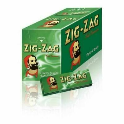 New Zig Zag Green Standard Smoking Cigarette Rolling Papers 1 - 100 Booklets