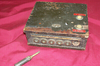Antique 386 A Box Wood Phone Junction Military Communications Telephone Old Army