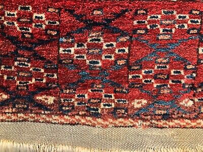 "ANTIQUE  TURKOMAN  TEKKE  RUG      3' 10"" X 5' 8""  LATE 19th - EARLY 20th C."