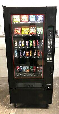 Narrow Used Polyvend 32 Selection Snack & Can Vending Machine
