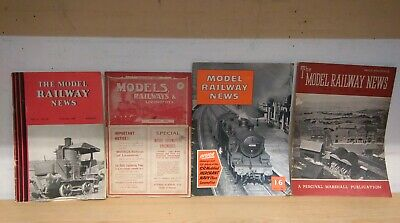 Model Railway News / Other Magazines: Collection of 12 issues between 1913-1957