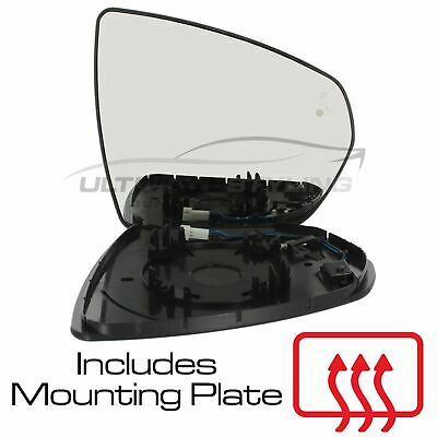 Right Driver side Wide Angle wing mirror glass for Jaguar XK 1996-2005 heated