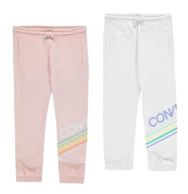 Girls Converse Casual Cotton Blend Jogging Bottoms Sizes Age from 8 to 15 Yrs