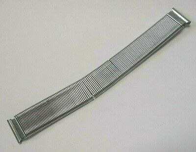 Vintage Military Style Stainless Steel Coil Spring Watch Band 15.5 mm SHIPS FREE