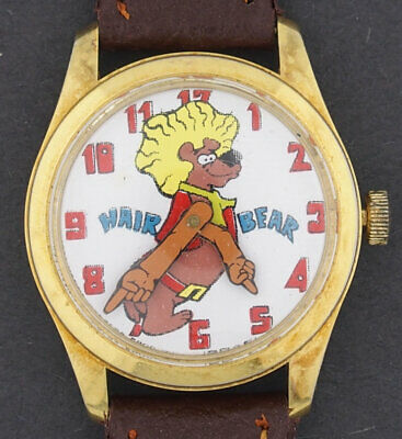 Vintage 1972 wind-up Hair Bear Cartoon Character Watch Hanna Barbera