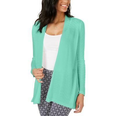 Charter Club Womens Green Open Front Chevron r Cardigan Sweater Top M BHFO 0229