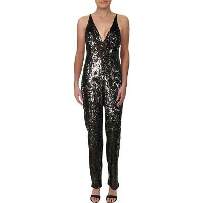 Dress The Population Womens Charlie Multi Sequined V-Neck Jumpsuit S BHFO 8377