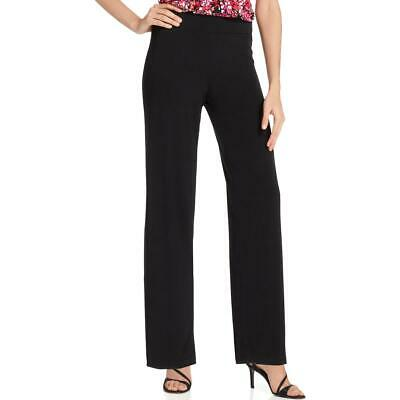 NY Collection Womens Black Wide Leg Pull On Palazzo Pants Petites PM BHFO 3900