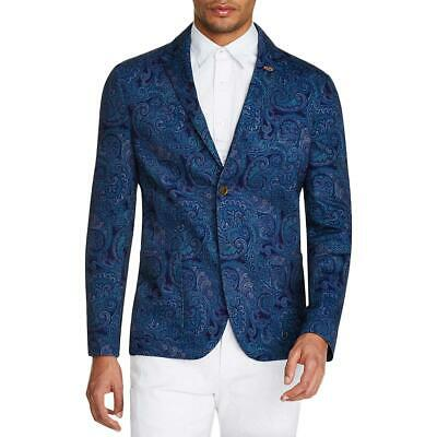 Tallia Sport Mens Navy Paisley Slim Fit Stretch Blazer Jacket L BHFO 6947