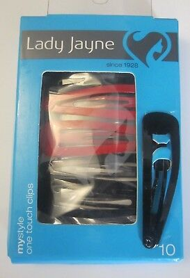 New Lady Jayne my style 10pk one touch Hair Clips Assorted / Pins / Pin / Clip