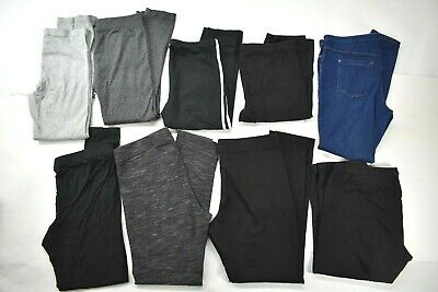 Wholesale Lot of 9 Womens Sz Large Mixed Brands Everyday Athletic Sport Leggings