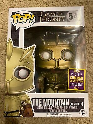 Funko Pop! Game of Thrones 54 The Mountain Armoured 2017 SDCC w/ Protector *MINT