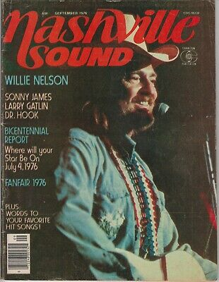 Nashville Sound Magazine September 1976 Willie Nelson Dr John Larry Gallin Sonny