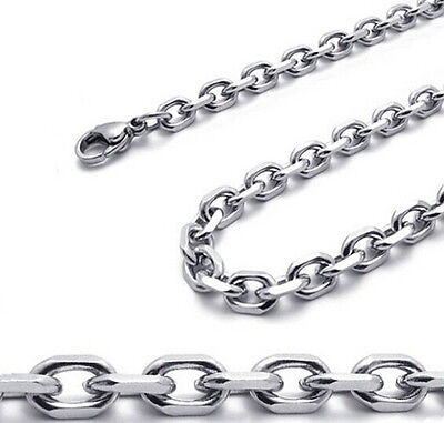 wholesale 100pcs stainless steel Cross Rolo Chain Necklace silver 3mm 20'' 50CM
