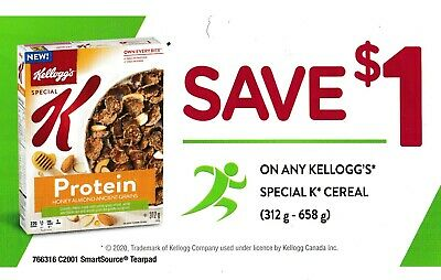 save on KELLOGG'S SPECIAL K CEREAL $15 [Canada]