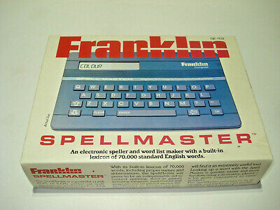 Franklin Computer Spellmaster Qe-103 Excellent In Box Made In Korea Free Post