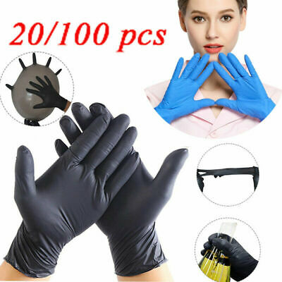 20/100pcs Nitrile Disposable Gloves Powder Free Latex household food gloves Lot