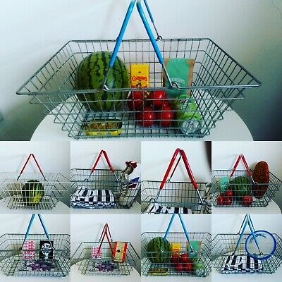 Vintage red handled wire shopping basket (30 available!)