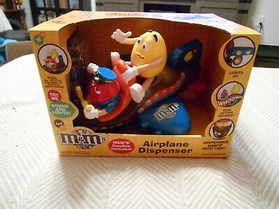 NEW M&M's Airplane Candy dispenser in box sound and lights