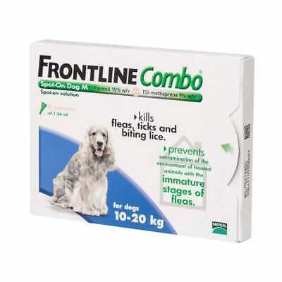 Frontline Plus (Combo) For Medium Dogs 23-44lbs 6 Pipettes SHORT DATE 3/20