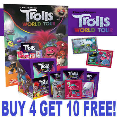 Topps Trolls World Tour Stickers (2020) Single Stickers  BUY 4 GET 10 FREE!!