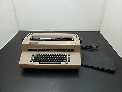 IBM Selectric II Electric Typewriter Grey/ Tan Tested Condition Pick up only
