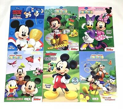 Disney Mickey Mouse Big Fun Book Color Activity Books Lot Of 3 Mixed Assorted