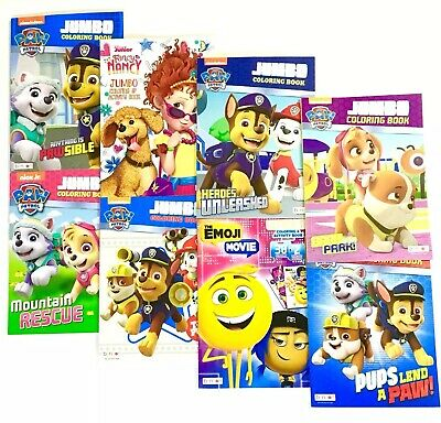 PAW PATROL DISNEY NICKELODEON Coloring and Activity Books LOT OF 3 Mixed