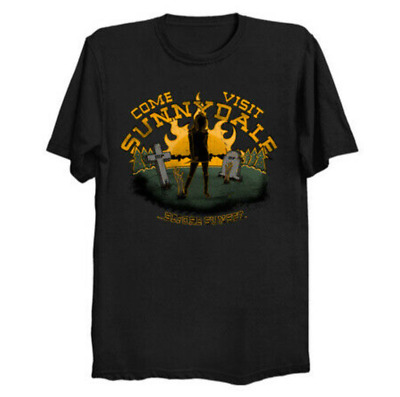 Come Visit Sunnydale Buffy The Vampire Slayer Horror Black T-Shirt Cotton S-6XL