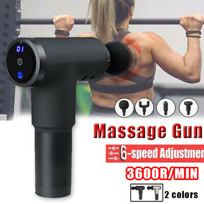 LCD Digital Display Muscle Massage Gun 6 Level Adjustable Tissue Muscle Massager