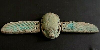 Faience Winged Scarab