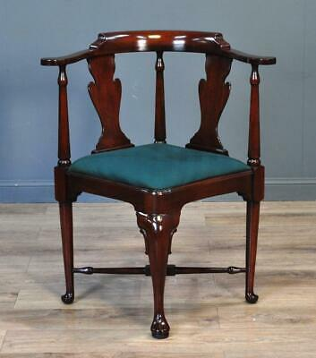 Attractive Antique Style Mahogany Corner Chair Armchair