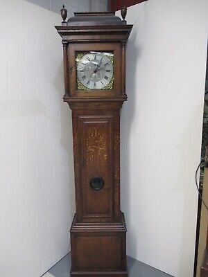 Huge Late Victorian Antique Grandfather Clock Triple Weight Good Chime Working