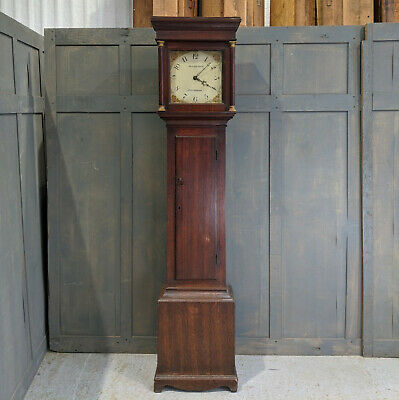 Simple Oak Antique Late Georgian Guildford Surrey Grandfather Clock