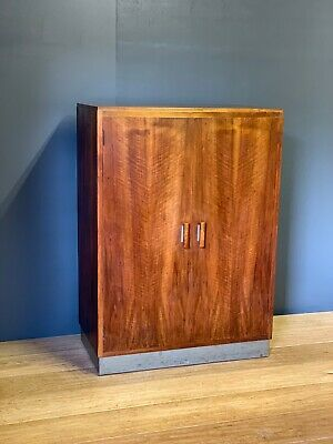 Art Deco Teak Gentleman's Clothing Cupboard From Rowley Gallery 1930's Delivery